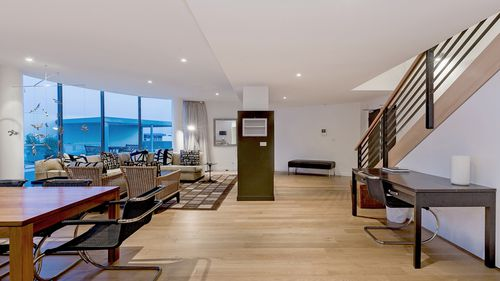 The apartment boasts impressive views of Lake Burley Griffin.