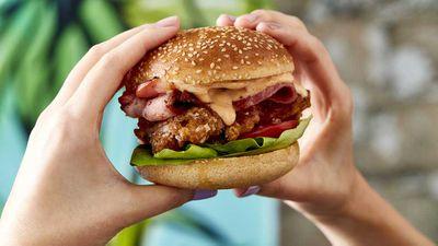 "Recipe: <a href=""http://kitchen.nine.com.au/2017/07/11/17/56/the-crispy-blc-buttermilk-and-maple-crispy-fried-chicken"" target=""_top"">Chur Burger's crispy BLC, buttermilk and maple crispy fried chicken burger</a>"