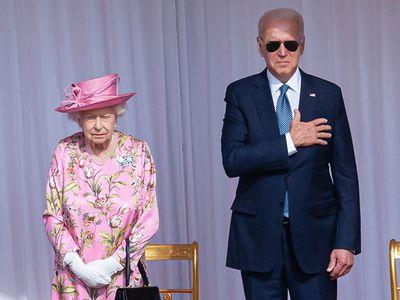 President Joe Biden with the Queen, 2021