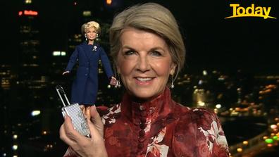 Julie Bishop has been immortalised as a Barbie doll.