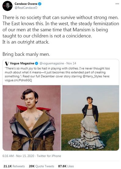 Olivia Wilde, defends Harry Styles, dress, Vogue cover, Candace Owens, criticism