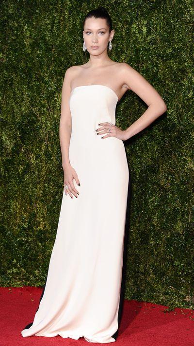 <p>Bella Hadid in Prabal Gurung&nbsp;at the Tony Awards.</p>