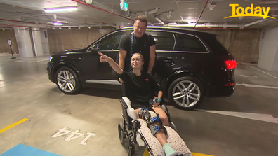 Karl Stefanovic met Ally Langdon in the carpark.