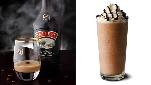 Baileys Irish Cream Liqueur | McDonald's Frappe chilled coffee drink