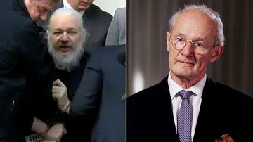 Julian Assange and his father John Shipton.