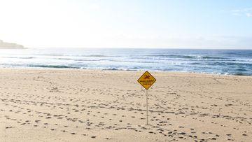 An empty Bondi Beach, in Sydney,