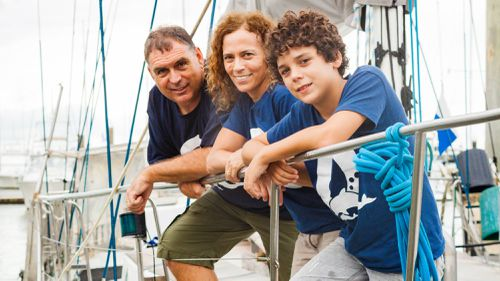 North Queensland tourism operator Perry Jones and family