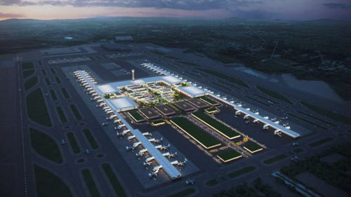 A plan for what the airport will look like.