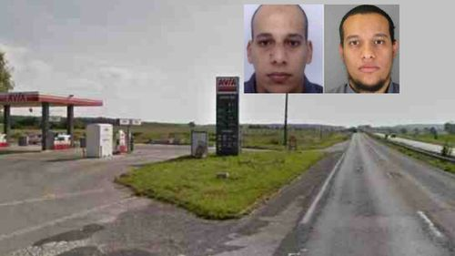 The service station Sherif and Said Kouachi are alleged to have robbed. (Google Maps/supplied)