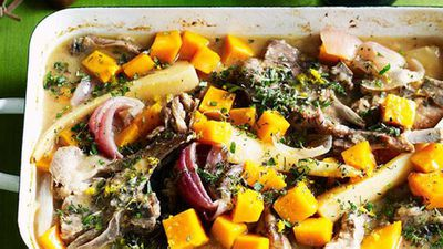 "Recipe: <a href=""http://kitchen.nine.com.au/2016/05/16/13/51/lemonscented-lamb-casserole-with-winter-vegetables"" target=""_top"" draggable=""false"">Lemon-scented lamb casserole with winter vegetables</a>"