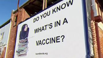 Doctors outraged over anti-vaccination billboard