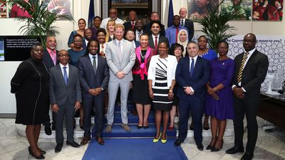 Prince Harry at Commonwealth Youth Roundtable, July 2019