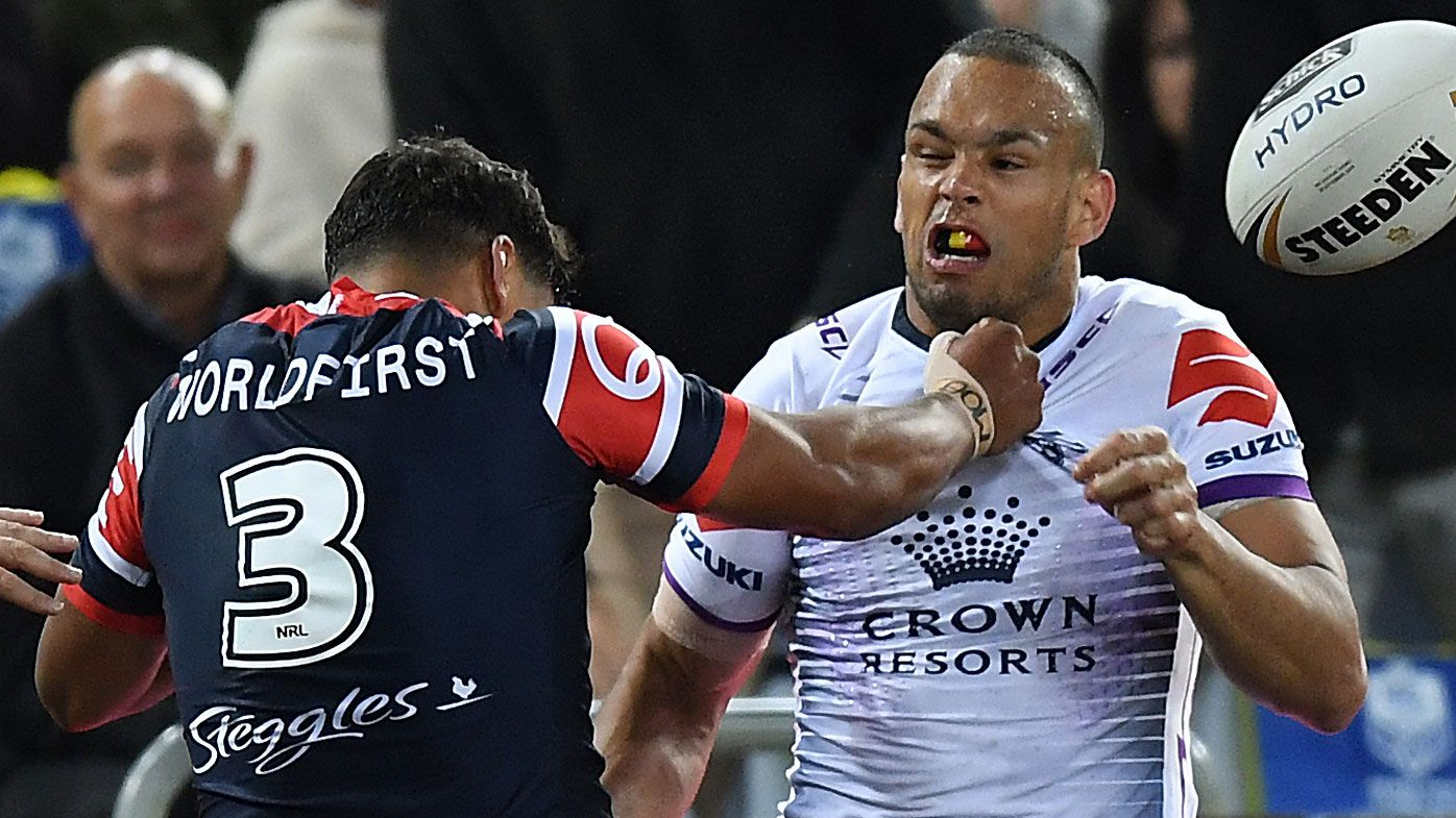 Latrell Mitchell and Will Chambers' bad blood resurfaces in NRL Grand Final
