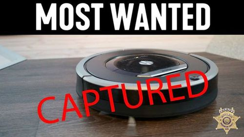 Robot vacuum cleaner sparks call to police