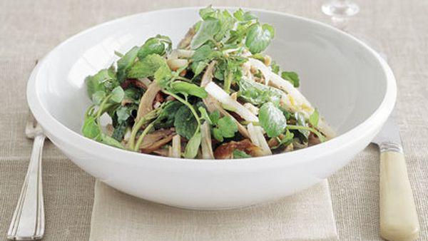 Chinese roast duck, jicama, watercress and mint salad