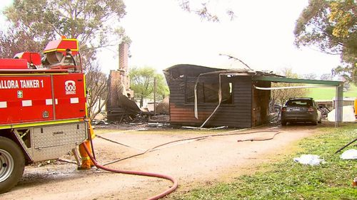 A much-loved grandfather has died in a house fire early this morning.