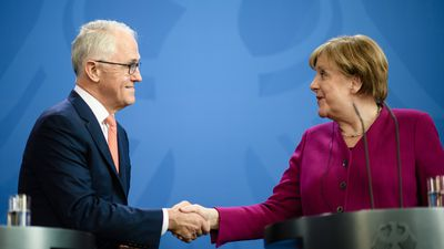 Turnbull and Merkel voice support for free trade deal