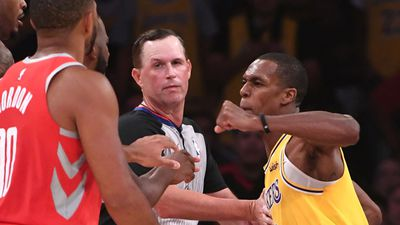 Punches thrown as brawl mars LeBron's home Lakers debut