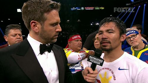 A defeated Manny Pacquiao said he thought he had won.