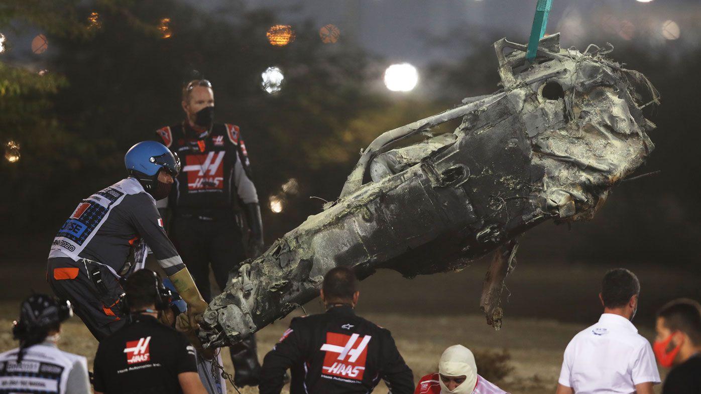 Lewis Hamilton wins F1 Bahrain GP marred by horrific crash for Romain Grosjean