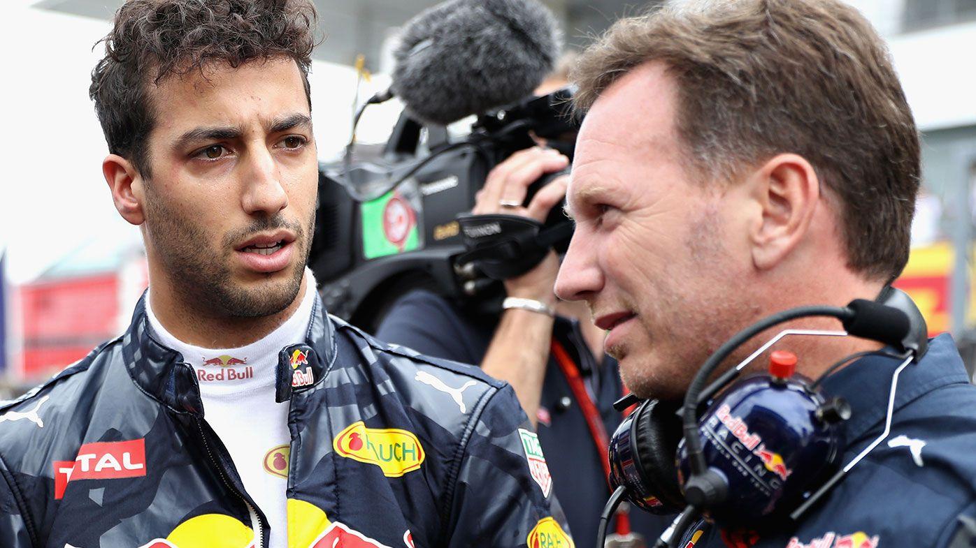 Daniel Ricciardo (left) and Christian Horner