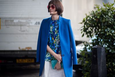 Sam Rollinson brought the elegance with perfect shades of cobalt blue paired with bright whites.