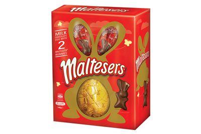 Maltesers egg: 35 minutes very fast running