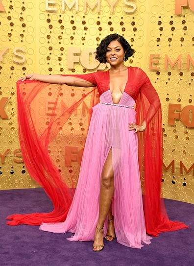 Taraji P Henson on the Emmys red carpet