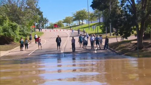 The Hawkesbury Highway is pretty much the only way in and out of North Richmond. Hawkesbury NSW floods