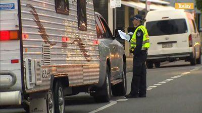 Police checks at crossing