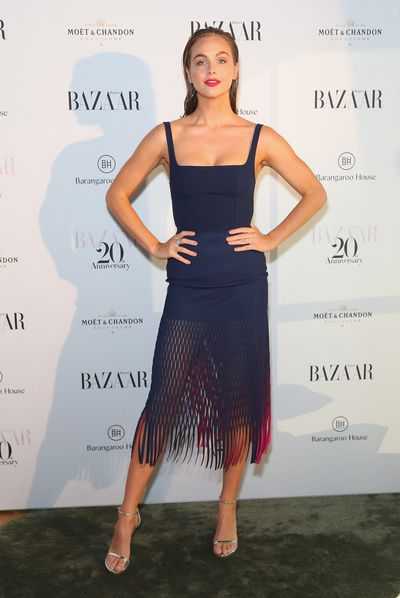 TV host Ksenija Lukich at the Harper's Bazaar 20th anniversary party