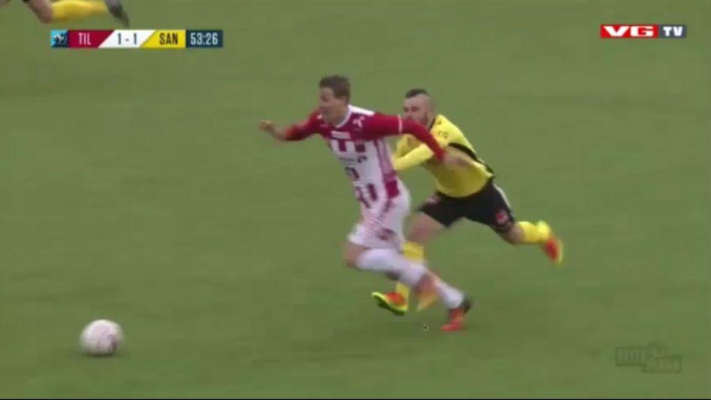 Footballer takes a ride on… another footballer