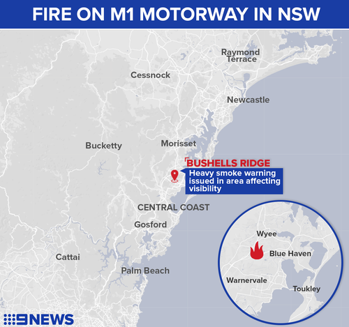 NSW Central Coast fire
