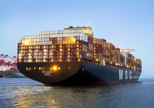 Measuring 400 metres long and 60 metres wide, MSC Gülsün has a record-size capacity for a container ship and can carry more than 23,000 20-foot (six metre) containers.
