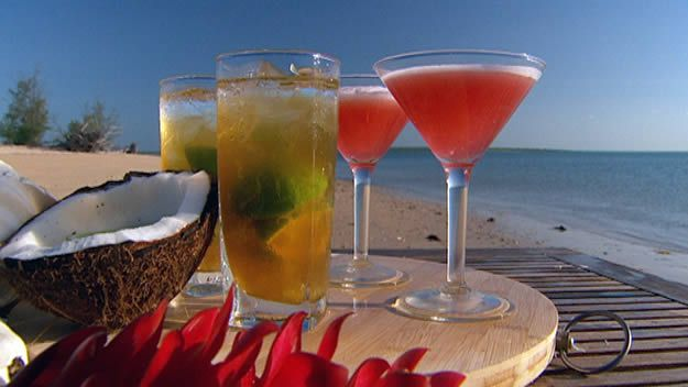 Young raspberry martini
