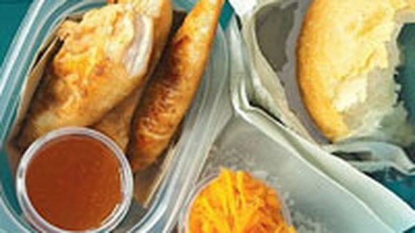Teriyaki chicken rolls