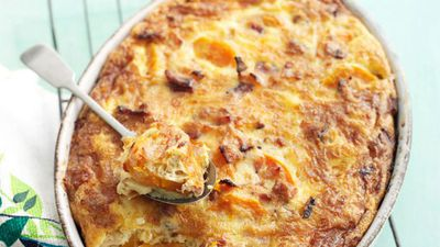 "<a href=""http://kitchen.nine.com.au/2016/05/17/11/34/kumara-bacon-egg-bake"" target=""_top"">Kumara bacon and egg bake</a>"