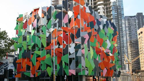 Melbourne's Pixel Building on Queensberry Street, Carlton. The Pixel Building was Australia's first carbon-neutral office building, receiving a perfect Green Star rating. (AAP)