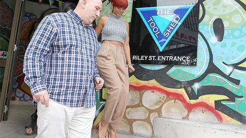 Rihanna shops at a sex shop in Sydney