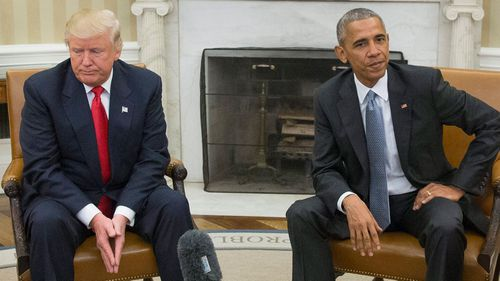 Donald Trump, who takes office on January 20 and is pictured here with Barack Obama, has called for better relations with Russia.
