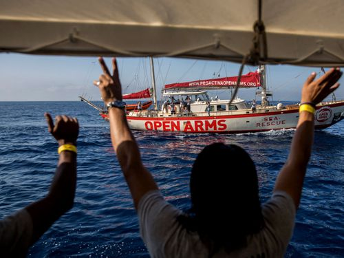 The Spanish vessel Proactiva Open Arms has been rescuing migrants. Photo: AP