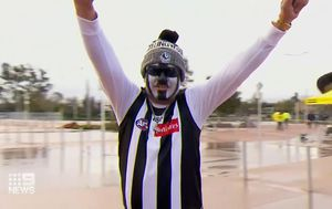 Tens of thousands pack Perth stadium for largest public gathering in Australia since coronavirus pandemic began, with pitch invader up for massive fine