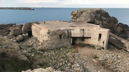 One of the bunkers on Alderney. (9NEWS/Seb Costello)