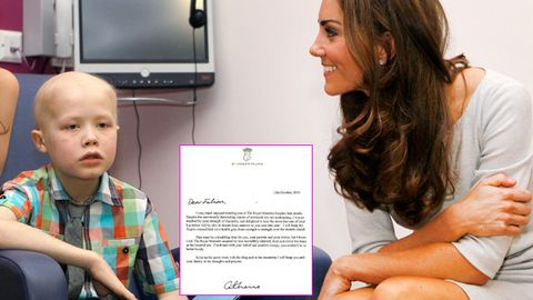 Kate Middleton writes letter to 9-year-old cancer patient