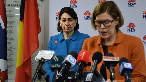 NSW Premier Gladys Berejiklian and Dr Kerry Chant today.
