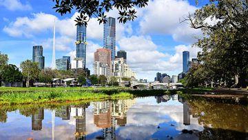 Melbourne after a heavy rainstorm.