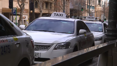 The taxi industry has launched a campaign against the state government's new levy on passengers. (9NEWS)