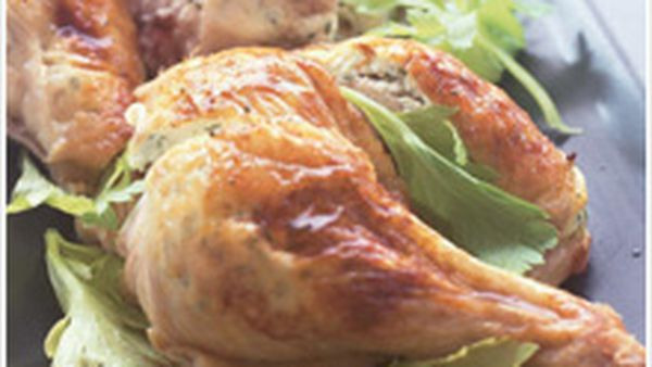 Ricotta and herb stuffed roast chicken