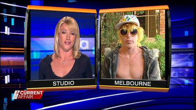 Worthington's first interview with A Current Affair in 2008, where he refused to take responsibility for his out-of-hand party, and denied requests by host Leila McKinnon to take off his sunglasses. (A Current Affair)
