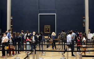 Coronavirus: World's most famous painting, the Mona Lisa, back on display at the Louvre in Paris